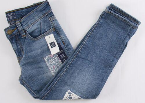 NWT Girls GAP Kids Girlfriend Denim Pants Jeans Patch - 575701