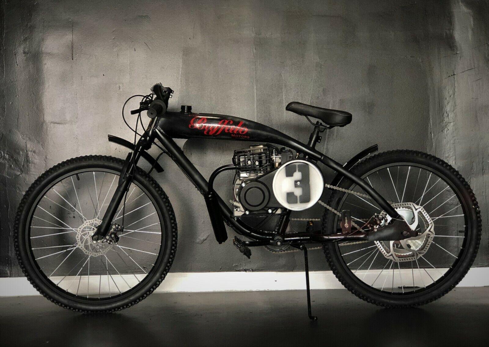 1930 STEEL BUFFALO BOARDTRACK CRUISER TRIBUTE 80CC  DISTRESS BLACK PATINA