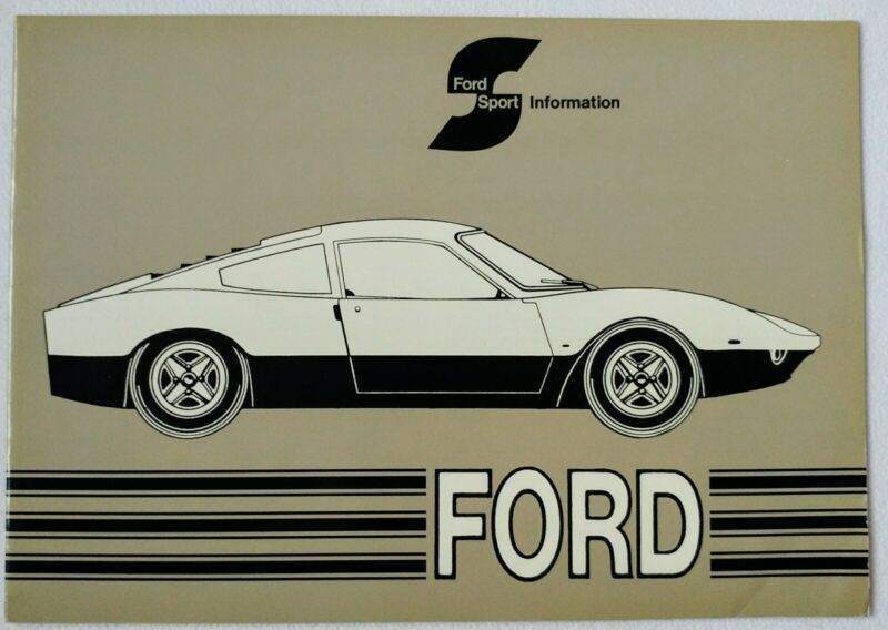 1971 Ford Europe Sport Original Sales Brochure in German French GT70 RS2600 CH
