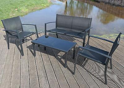 Garden Table Textoline Chairs Bench Bistro Set Garden Patio Furniture Dining Set