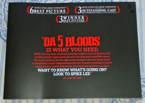 DA 5 BLOODS FYC AWARDS PHOTO BOOKLET 34 PAGES w/CHADWICK BOSEMAN+SPIKE LEE+LINDO
