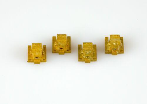 Dingler 4 Achslagersteine SBB-CFF Spur 1 aus Messing