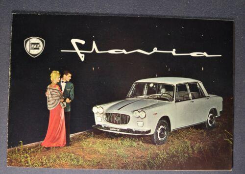 1962-1963 Lancia Flavia Sedan Catalog Sales Brochure Excellent Original