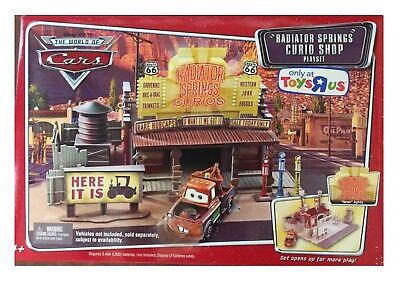 Disney Pixar Cars RADIATOR SPRINGS CURIO SHOP Playset RARE Play Set New MIB 2006 Cars Radiator Springs Playset