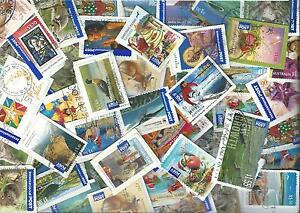 kiloware RECENT mixture of AUSTRALIAN international post - 50 STAMPS