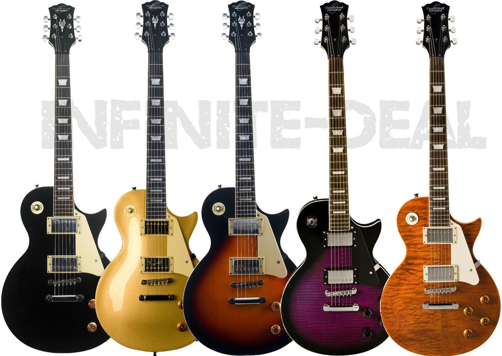 New Oscar Schmidt OE20 LP-Style Electric Guitar Sunburst,Gol