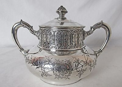ANTIQUE JAMES TUFTS SILVER PLATE BUTTER DISH AESTHETIC DESIGN