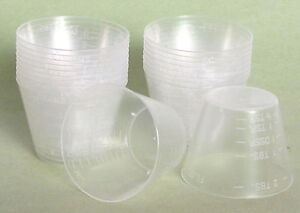 Reusable Plastic Measuring Mixing 20/1 oz Cups Resin