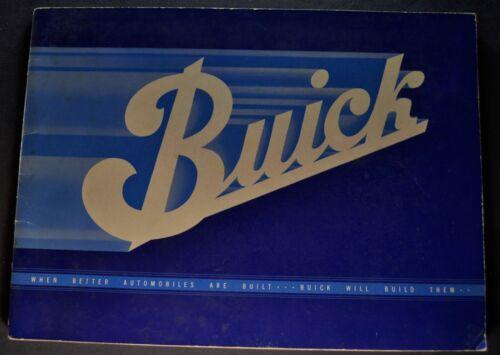 1934 Buick Prestige Catalog Brochure Series 40 50 60 90 Nice Original 34