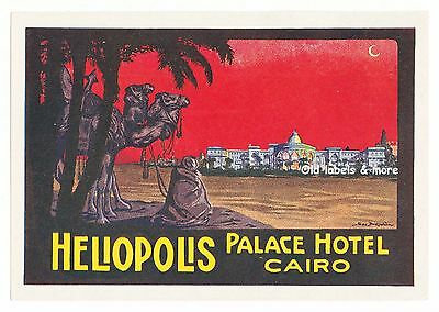 Heliopolis Palace Hotel CAIRO Egypt luggage label Kofferaufkleber x0947