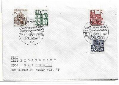 Bundesrepublik Deutschland  454-57   FDC
