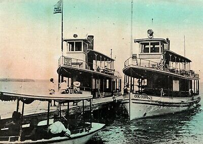 Steamers Queen And Okoboji Docking Arnold's Park Lake Okoboji Spirit Lake Iowa
