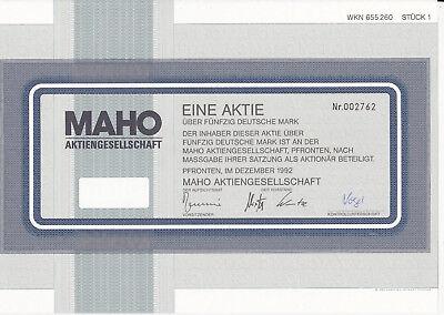 MAHO-Aktiengesellschaft-Aktie 50 DM-Pfronten 1992