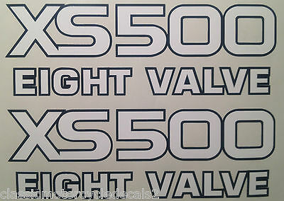 <em>YAMAHA</em> XS500 SIDE PANEL DECALS