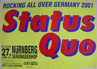 STATUS QUO CONCERT TOUR POSTER 2001 FAMOUS IN THE LAST CENTURY