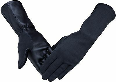 Nomex Pilot Tactical Flight Gloves Black,Green - Green Gloves