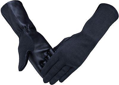 Nomex Pilot Tactical Flight Gloves Black,Green - Green Gloves