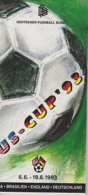 U.S.CUP 1993 GERMAN FA ISSUE WITH ENGLAND GERMANY BRAZIL AND UNITED STATES