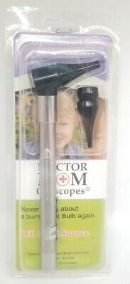Doctor Mom Otoscope Led Source White Light Stainless Infant Child Adult