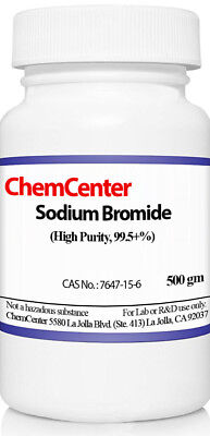 Sodium Bromide High Purity 99.5 Min. 500 Grams 1.1 Lb.
