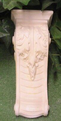 Oak Leaf Ribbon Scroll Shelf Bracket Latex Fiberglass Production Mold -