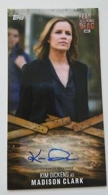 FEAR THE WALKING DEAD Widevision Kim Dickens Madison Clark card Autograph  AUTO