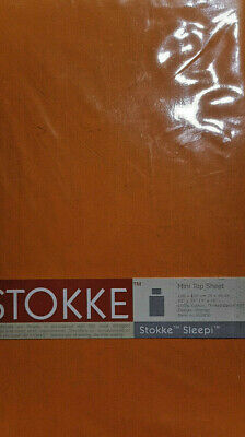Stokke Bettwäsche Set orange 100x100 cm + Kopfkissen 35x40 cm