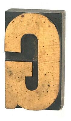 Vintage Wood Letterpress Print Type 3-14h Printers Block Cut Letter G 3