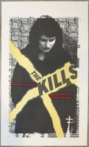 2011 The Kills - Portland Concert Poster s/n by Joanna Wecht & Art Chantry