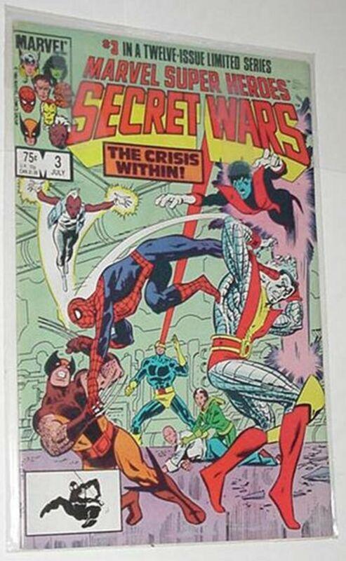 Secret Wars 3 NM Mike Zeck Spider-Man vs X-Men Jim Shooter 1st print