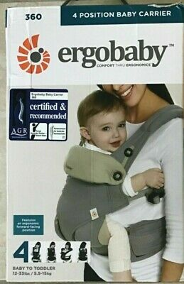 Ergo Baby Four Position 360 Carrier Cool Air Carbon Grey 4 Positions Ergobaby for sale  Shipping to South Africa
