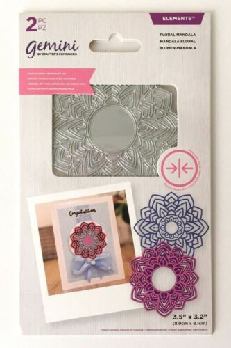 New Gemini Floral Mandala Double Sided Layerable Topper Die Crafters Companion