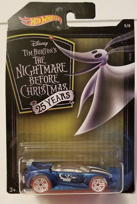 NEW 2018 Hot Wheels Nightmare Before Christmas Zero Ghost Dog Toy Car Stocking  - Disney Halloween Movie Dogs