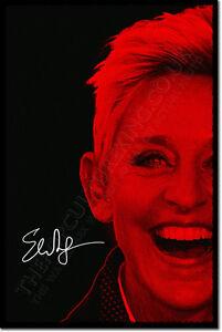 ELLEN-DEGENERES-SIGNED-ART-PHOTO-PRINT-AUTOGRAPH-POSTER-GIFT