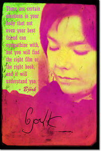 BJORK-SIGNED-ART-PRINT-PHOTO-POSTER-AUTOGRAPH-GIFT-Bjork-QUOTE
