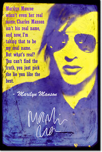 MARILYN-MANSON-SIGNED-ART-PRINT-PHOTO-POSTER-AUTOGRAPH-GIFT-QUOTE