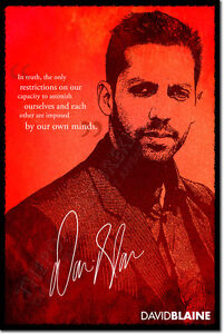 DAVID-BLAINE-SIGNED-ART-PHOTO-PRINT-AUTOGRAPH-POSTER-GIFT-MAGIC-MAGICIAN-QUOTE
