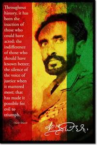 HAILE-SELASSIE-I-SIGNED-ART-PHOTO-PRINT-AUTOGRAPH-POSTER-GIFT-ETHIOPIA-QUOTE