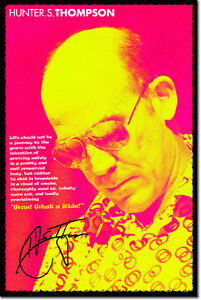 HUNTER-S-THOMPSON-SIGNED-ART-PHOTO-PRINT-AUTOGRAPH-POSTER-FEAR-AND-LOATHING