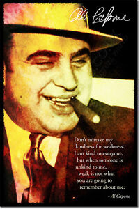 AL-CAPONE-SIGNED-ART-PHOTO-PRINT-AUTOGRAPH-POSTER-GIFT-ORGANISED-CRIME-QUOTE