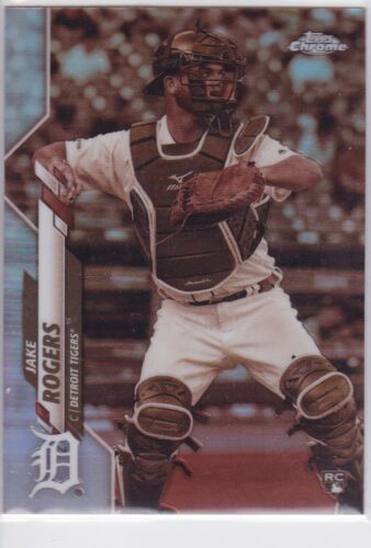 2020 TOPPS CHROME MLB DETROIT TIGERS JAKE ROGERS SEPIA REFRACTOR NO. 47