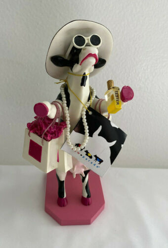 Cow Parade Alphadite Goddess of Shopping  #7721 Figurine New