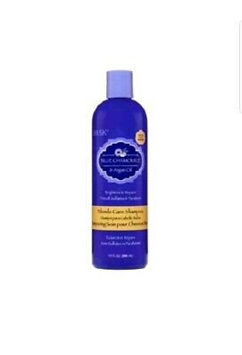 Hask BLONDE CARE Blue Chamomile & Argan Oil Shampoo Brighten Repair 15 fl.oz New