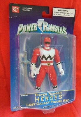 Ban Dai Power Ranger HEROES Lost Galaxy Figure RED Series 11 NEW - $39.95