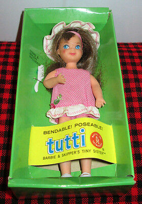 """1966 BROWNETTE *TUTTI"""" DOLL+ OUTFIT~NEW IN BOX~MINT+COMPLETE~#3550~MINT BOX+DOLL"""