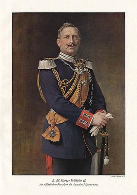 S.M. Kaiser Wilhelm II. Protektor des Motorwesens Plakat Braunbeck Motor A3 451