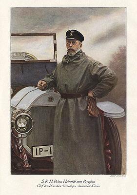 S.K.H. Prinz Heinrich von Preußen Benz Automobil Plakat Braunbeck Motor A3 465