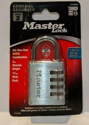 Master Lock Word Combination Padlock 78 Shackle Height 1 916 Wide 6281