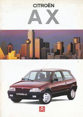 CATALOGUE VOITURE PUB. AUTO AD CITROEN AX 1994 EN FRANCAIS