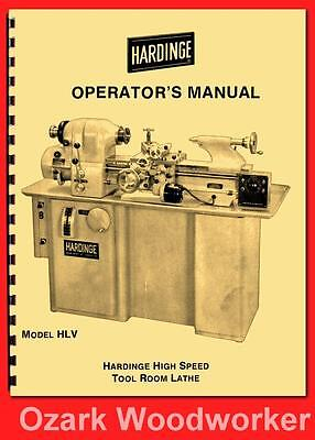Hardinge Old Hlv High Speed Tool Room Lathe Operators Manual 54 1124